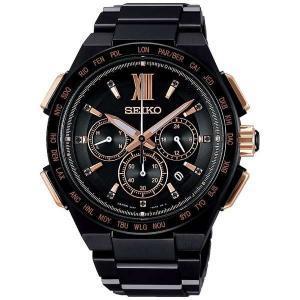 セイコー ブライツ SAGA214 メンズ 腕時計 クロノグラフ 限定800本 チタン SEIKO ソーラー電波時計 新品|oomoritokeiten
