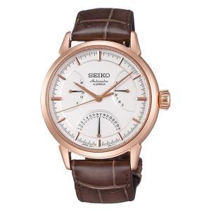 セイコー プレザージュ SARD006 メンズ 腕時計 ピンクゴールド レトログラード パワーリザーブ SEIKO メカニカル 自動巻 新品 oomoritokeiten