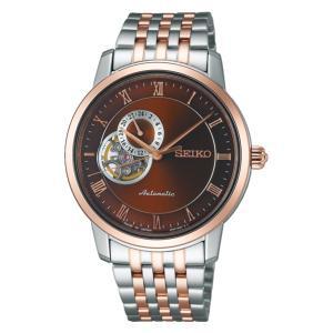 セイコー プレザージュ SARY066 メンズ 腕時計 シースルーバック ピンクゴールド SEIKO メカニカル 自動巻 新品 oomoritokeiten