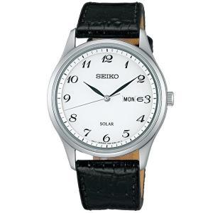 セイコー セレクション SBPX097 メンズ 腕時計 牛皮革バンド 黒色 SEIKO ソーラー時計 新品|oomoritokeiten
