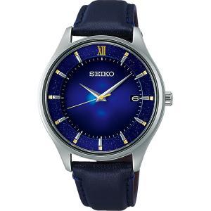 セイコー セレクション SBPX141 メンズ 腕時計 2020 エターナルブルー 限定モデル 牛皮革バンド ネイビーブルー SEIKO ソーラー時計 新品|oomoritokeiten