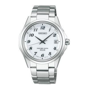 セイコー セレクション SBTM237 メンズ 腕時計 10気圧防水 白文字盤 SEIKO ソーラー電波時計 新品|oomoritokeiten