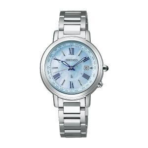 セイコー ルキア レディース 腕時計 SSQV027 白蝶貝文字盤 コンフォテックス チタン SEI...