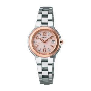 セイコー ルキア レディース 腕時計 SSQW016 ピンクゴールド コンフォテックス チタン SEIKO ソーラー電波時計 新品|oomoritokeiten