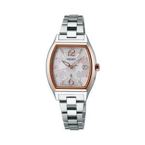 セイコー ルキア レディース 腕時計 SSQW020 ピンクゴールド コンフォテックス チタン SEIKO ソーラー電波時計 新品|oomoritokeiten