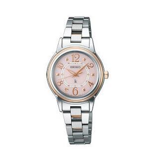 セイコー ルキア レディース 腕時計 SSVE060 ピンクゴールド SEIKO ソーラー電波時計|oomoritokeiten