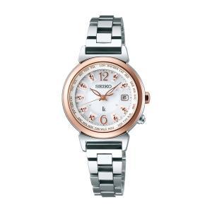 セイコー ルキア レディース 腕時計 SSVV002 ピンクゴールド コンフォテックス SEIKO ソーラー電波時計 新品|oomoritokeiten