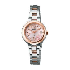 セイコー ルキア レディース 腕時計 SSVW018 ピンクゴールド SEIKO ソーラー電波時計 新品|oomoritokeiten