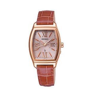 セイコー ルキア レディース 腕時計 SSVW032 ピンクゴールド ワニ革バンド SEIKO ソーラー電波時計 新品|oomoritokeiten