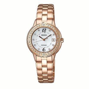 セイコー エクセリーヌ SWCW078 レディース 腕時計 クオーツウオッチ 45周年記念 200本限定モデル SEIKO ソーラー電波時計 新品|oomoritokeiten