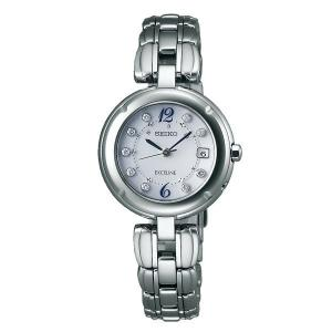 セイコー エクセリーヌ SWCW121 レディース 腕時計 ダイヤモンド文字盤 コンフォテックス チタン SEIKO ソーラー電波時計 新品|oomoritokeiten