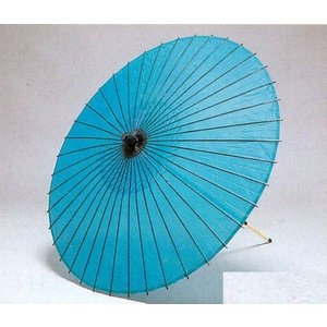 舞踊・稽古用和傘  ブルー|oooka529