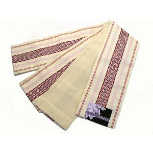 京紫織・ロングサイズ(4.4m)小袋半巾帯 「両面別織柄」  D-5|oooka529