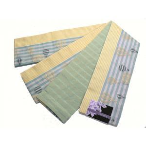 京紫織・ロングサイズ(4.4m)小袋半巾帯 「両面別織柄」  M-1|oooka529
