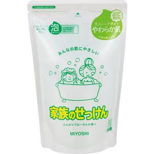 ミヨシ 家族のせっけん 泡ボディソープ 詰替用 550ml|oosaki