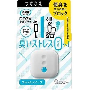 エステー 消臭力 DEOX トイレ用 消臭芳香剤 置き型 フレッシュソープ つけかえ(6ml)|oosaki