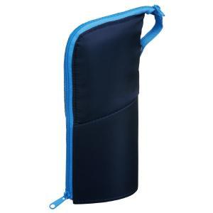 コクヨ ペンケース(ネオクリッツ)ラージサイズ ネイビー×ライトブルー F-VBF181-2|oosaki