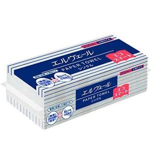 【送料無料(一部地域除く)】【1ケースまとめ買い35袋】大王製紙 エルヴェール ペーパータオル エコスマートシングル 中判 1ケース(200枚×35袋入)|oosaki