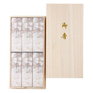 日本香堂 宇野千代のお線香 淡墨の桜 桐箱サック6入|oosaki