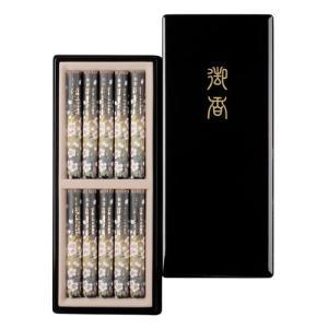 日本香堂 宇野千代のお線香 特撰淡墨の桜 塗箱短10入|oosaki