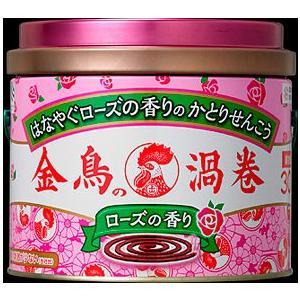 ◆はなやぐローズの香りの蚊取り線香の30巻缶入。  ◆リラックス効果があると言われる「みどりの香り」...