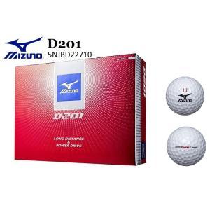 ゴルフボール ミズノ D201 ホワイト 1ダース(12球) 5NJBD22710 MIZUNO|oosumi-marutake