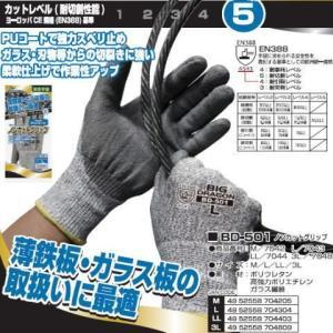 耐切創手袋 富士グローブ BD-501 ノンカットグリップ BIG DRAGON BD501 10双 M〜3L ビッグドラゴン|oosumi-marutake