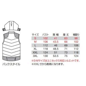 バートル 5274 防寒ベスト (大型フード付) (ユニセックス) サーモクラフト (電熱パッド) 装着対応モデル BURTLE S〜3XL ワークウェア|oosumi-marutake|04