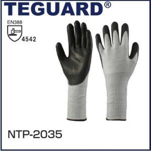 耐切創手袋 PUコーティング手袋 (ブラック) TEGURD テガード NTP-2035 S〜L|oosumi-marutake
