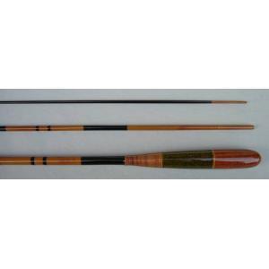 日本製竹釣竿 魚心硬式節巻 6尺 標準全長 1.8m 継数   3本