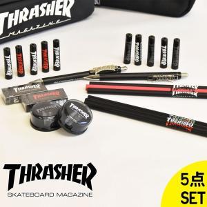 「THRASHER」のブランドロゴがおしゃれな、 文房具セットとなります。  セット内容は下記になり...