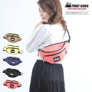 ファーストダウン ウエストバッグ メンズ レディース FIRSTDOWN ボディバッグ 鞄 かばん 蛍光色 レジャー opabinia
