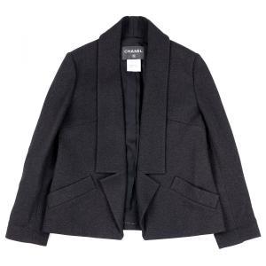 シャネル CHANEL P49 14B ラメ ウールジャケット ココマーク 38 黒 新品同様【C3-1142】|opal-shop1