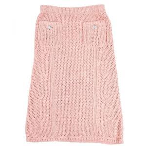 シャネル CHANEL P55 17C キューバコレクション コットンロングニットスカート ココマーク インナー付 40 ピンク 未使用【B2-1162】|opal-shop1