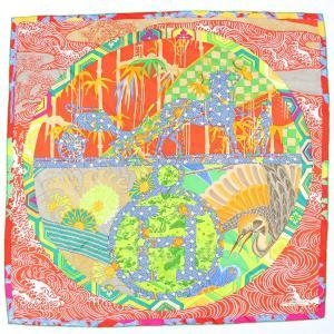 エルメス HERMES スカーフ カレ90 HERMES POUR LES 400 ANS DE MATSUZAKAYA 松坂屋400年記念 限定 マルチカラー シルク100%【Z1-1453】|opal-shop1