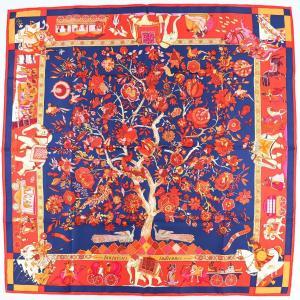 エルメス HERMES スカーフ カレ90 Fantaisies indiennes 眩惑のインド シルク100% マルチカラー 新品同様【Z1-1914】|opal-shop1