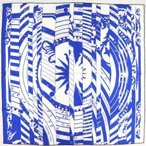 エルメス HERMES スカーフ カレ90 18AW Astrologie Nouvell 新たなる占星術 シルク100% 青×白 未使用【Z1-1917】|opal-shop1