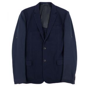ルイヴィトン LOUIS VUITTON 11SS 袖切替シングルテーラードジャケット 2B ワッフル 50 ネイビー 美品【I1-2078】|opal-shop1