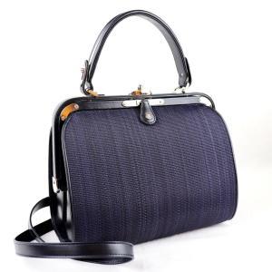 コンテス COMTESSE オードリー ホースヘアー FRAME BAG フレイムバッグ 2WAY ハンドバッグ ショルダー ネイビー 未使用【L2-2661】 opal-shop1