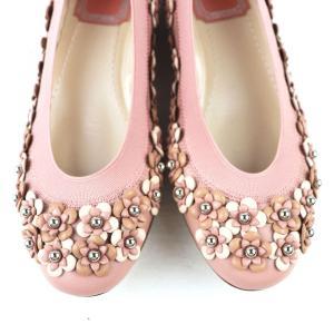 クリスチャンディオール Christian Dior フラワーモチーフ フラットシューズ パンプス イタリア製 35D ピンク 未使用【S3-3378】|opal-shop1|03