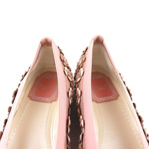 クリスチャンディオール Christian Dior フラワーモチーフ フラットシューズ パンプス イタリア製 35D ピンク 未使用【S3-3378】|opal-shop1|04