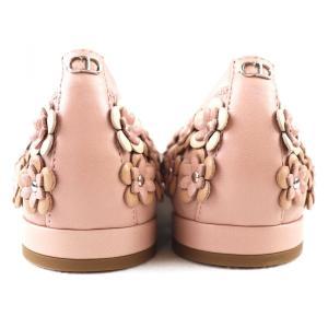 クリスチャンディオール Christian Dior フラワーモチーフ フラットシューズ パンプス イタリア製 35D ピンク 未使用【S3-3378】|opal-shop1|05