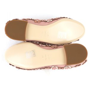 クリスチャンディオール Christian Dior フラワーモチーフ フラットシューズ パンプス イタリア製 35D ピンク 未使用【S3-3378】|opal-shop1|06