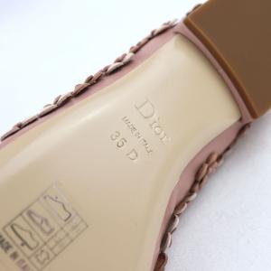 クリスチャンディオール Christian Dior フラワーモチーフ フラットシューズ パンプス イタリア製 35D ピンク 未使用【S3-3378】|opal-shop1|08