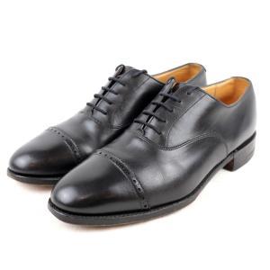 ロイドフットウェア Lloyd Footwear エドワードグリーン製 キャップトゥレザーシューズ メンズ 7 黒【R3-3811】|opal-shop1