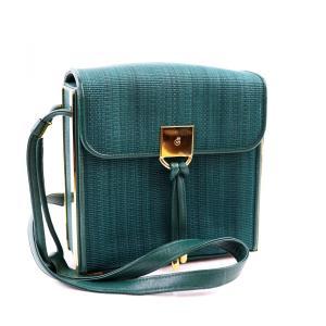 コンテス COMTESSE ホースヘアー×レザー ショルダーバッグ ゴールド金具 緑 美品 レディース【J2-384】|opal-shop1