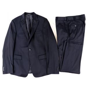 エンポリオアルマーニ EMPORIO ARMANI DAVID LINE シングルスーツ スラックス 46 ダークネイビー【F4-3846】|opal-shop1