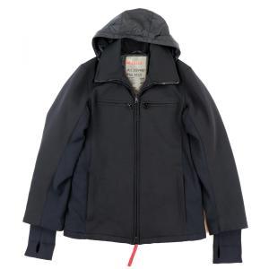 プラダスポーツ PRADA SPORTS フード付き 中綿 ナイロンブルゾン ジャケット メンズ 46 黒【D3-4284】|opal-shop1