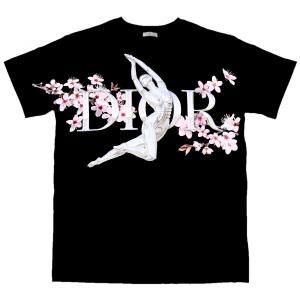 ディオール DIOR 2019 Pre Fall カプセルコレクション コットン Tシャツ カットソー イタリア製 メンズ M 黒 新品同様【A2-4290】|opal-shop1
