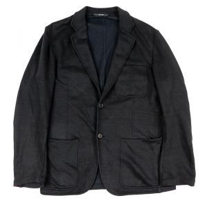 エルメス HERMES 2012年製 リネン×コットン 2Bシングル イージーテーラードジャケット 48 黒【B3-4830】|opal-shop1
